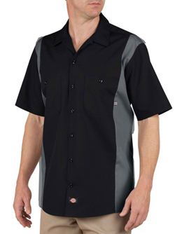 Dickies Adult 4.25 Ounce Short Sleeve Industrial Color Block Work Shirt