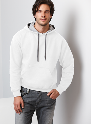 Gildan Heavy Blend 8.0 Ounce Adult Contrast Hooded Sweatshirt